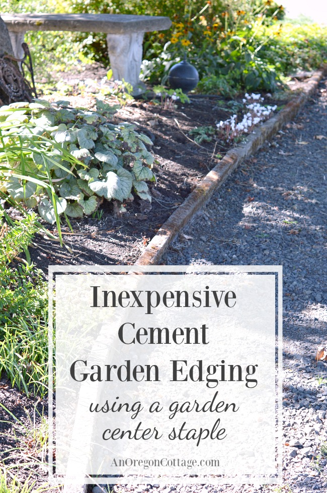 Inexpensive cement garden edging for beds and paths