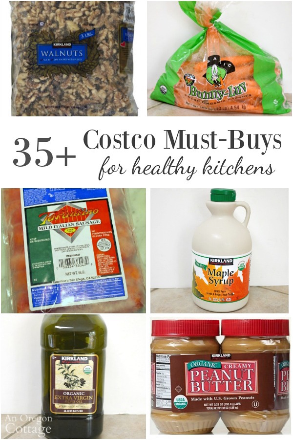 More than 35 Costco Must-Buy Items for Healthy Kitchens: real, whole foods with organic options.