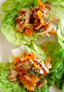 Chicken Lime Lettuce Wraps {10 Minute Meal!}
