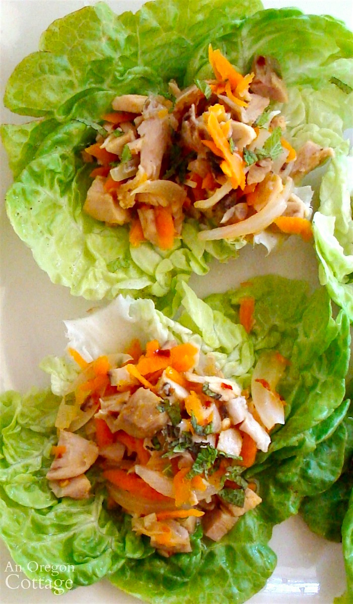 10 minute chicken lime lettuce wraps-a fast weeknight meal from rotisserie chicken