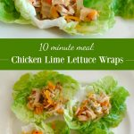 Chicken Lime Lettuce Wraps pin image