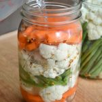 Fermented pickled vegetables-pouring salt water