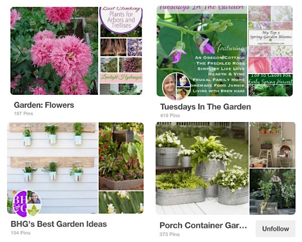 Flower garden Pinterest Boards