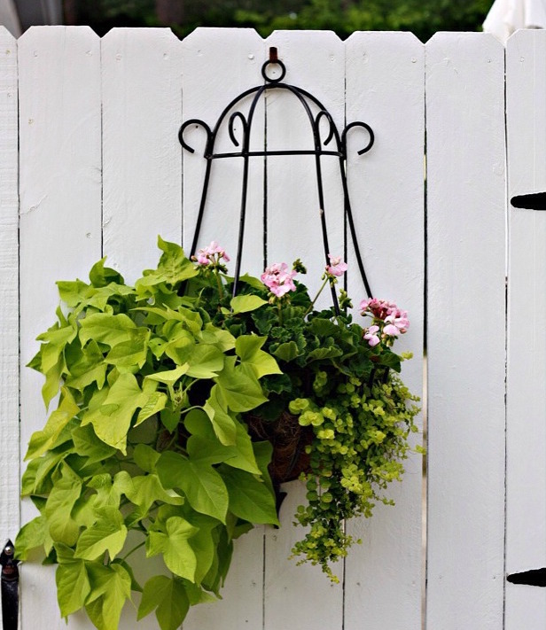 Gate-Flower-Container-Idea via Nest of Posies