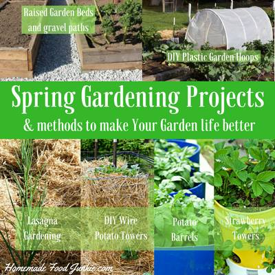 Spring Gardening Projects-HomemadeFoodJunkie