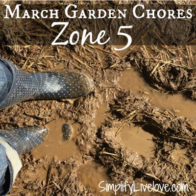 Zone 5 March Garden Chores-SimplifyLiveLove