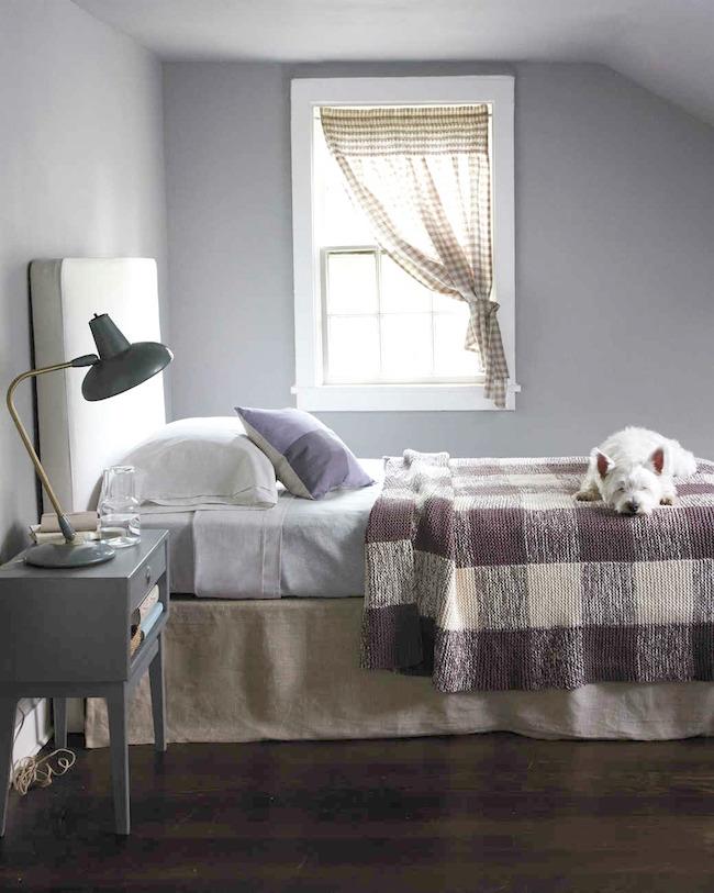 gingham-knitted-blanket via Martha Stewart