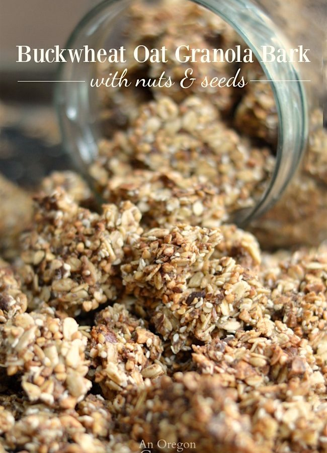 Recipe for Buckwheat-Oat Granola Bark with Nuts & Seeds