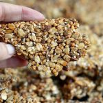Buckwheat oat nuts and seeds granola chunk