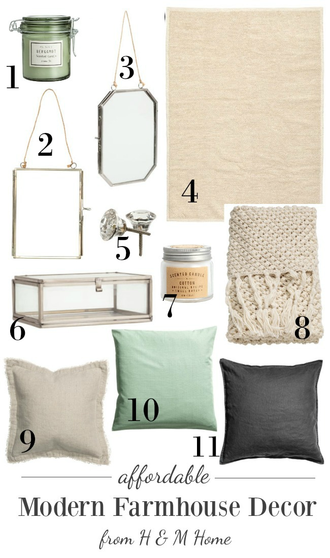 Affordable Modern Farmhouse Neutral Decor from H&M Home