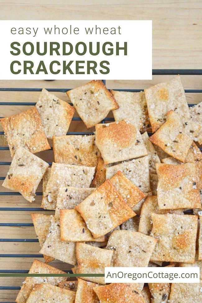 easy whole wheat sourdough crackers
