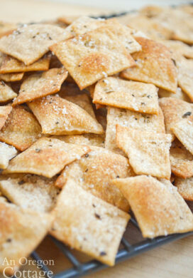One of the best things to make with your sourdough discard are these amazing whole wheat crackers! Easy to mix and roll, with a flavor everybody loves, you'll be making these often.