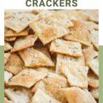 whole wheat sourdough crackers pin