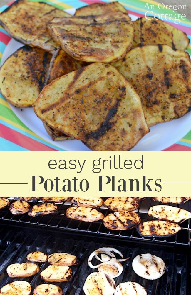 Easy grilled potato planks