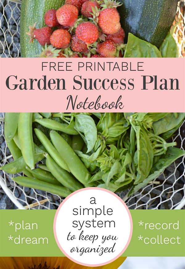 Free printable garden success plan 10 page notebook to simplify your garden planning and records.