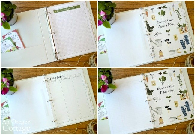 Garden success notebook inside pages