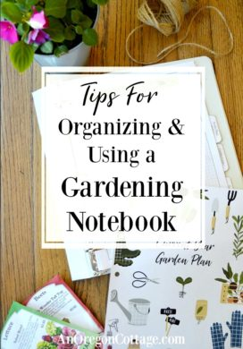 Organizing-Using Garden Notebook