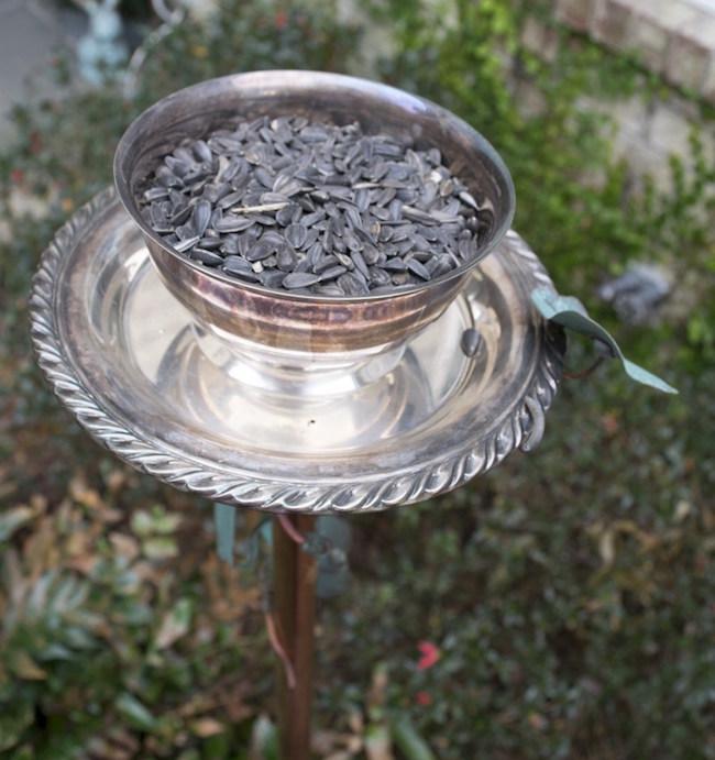 DIY Thrifted Bird Feeder @ Nourish & Nestle