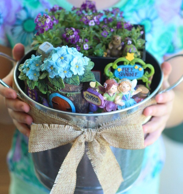 Fairy Garden Kit via Glue Sticks Blog