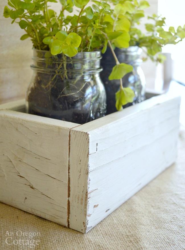 Reclaimed Wood Box and Mason Jar Gift Tutorial