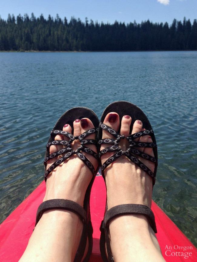 The sandals I'm LOVING