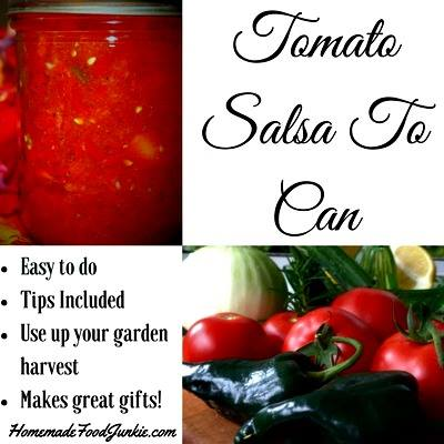 Tomato Salsa to Can at Homemade Food Junkie