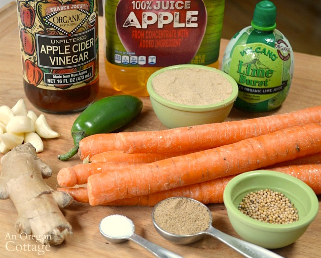 Carrot Relish ingredients