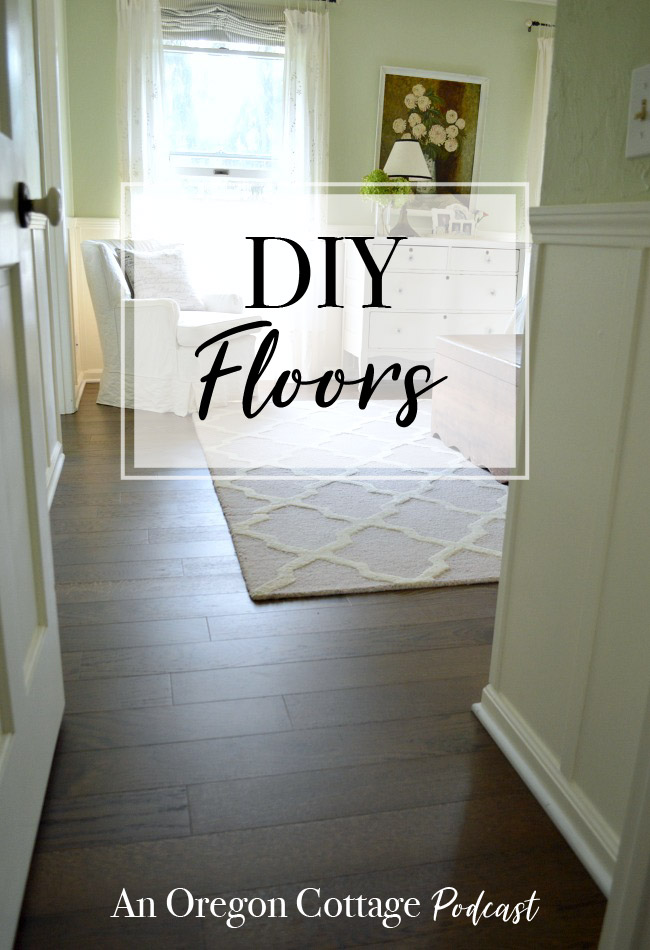 Join us for our first podcast as we talk about the DIY floors that work with dogs, the floor technique that got us in a magazine, and easy grilling menus. #diyfloors