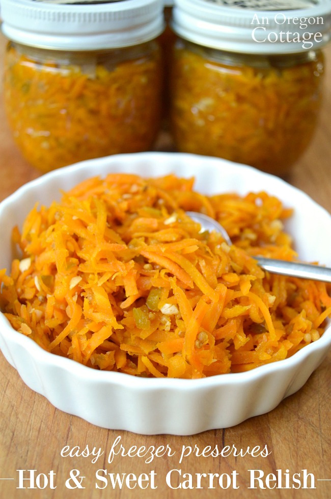 Hot and Sweet Carrot Relish