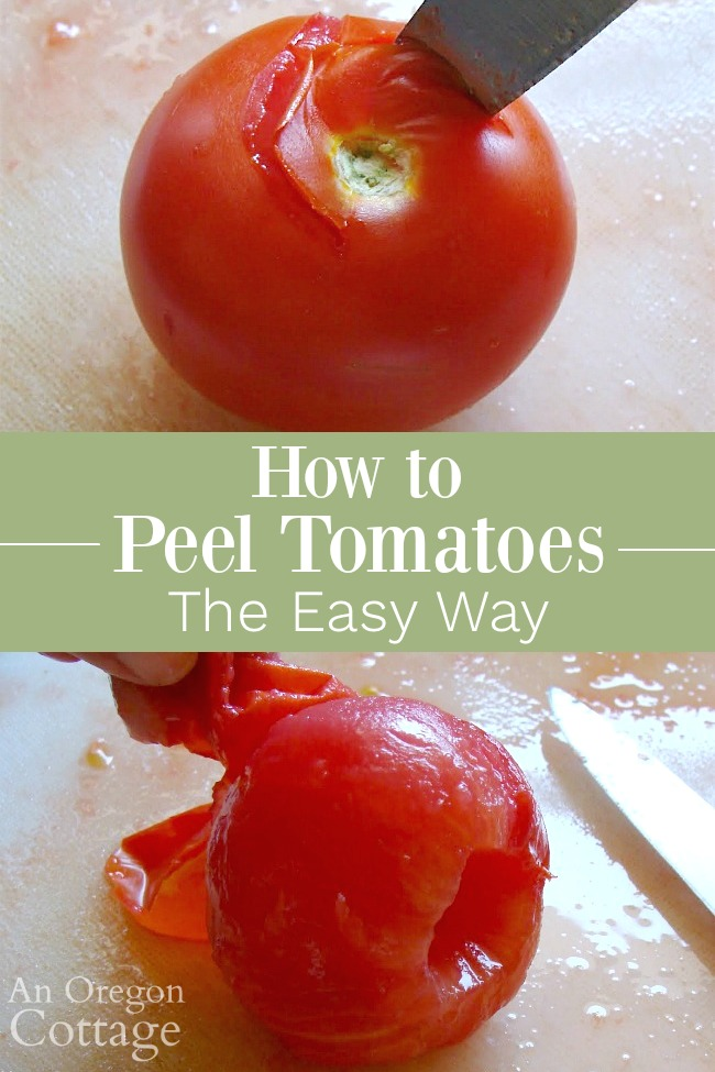 Peel tomatoes the easy way pin image