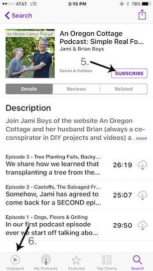 Subscribing to An Oregon Cottage Podcast