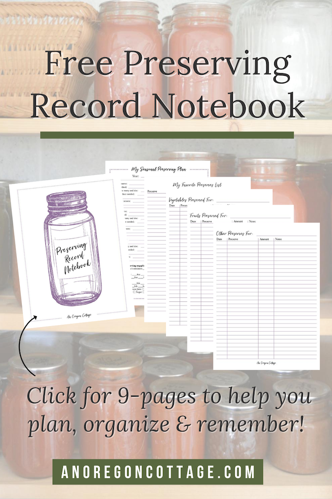 free preserving record notebook