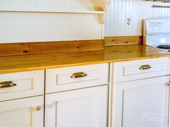 Bungalow Kitchen DIY Wood Countertops