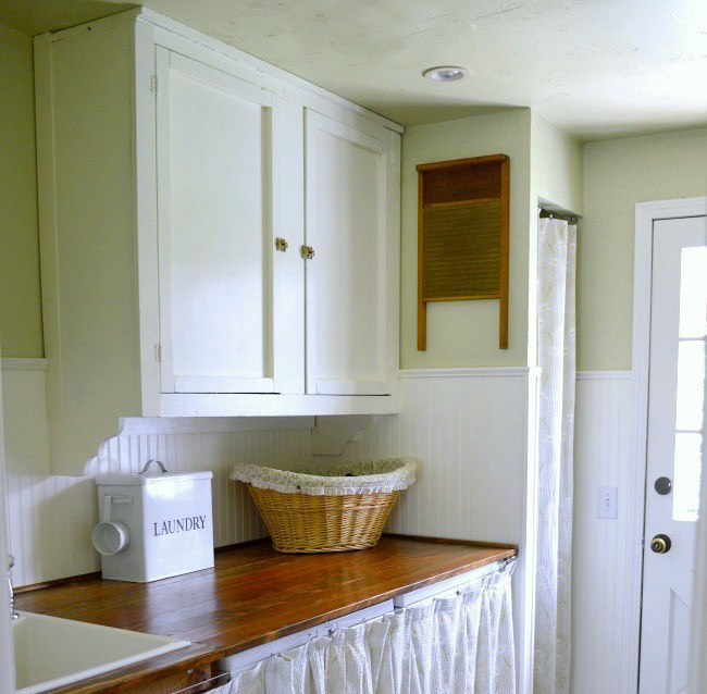 Castoff Cabinet in Laundry room