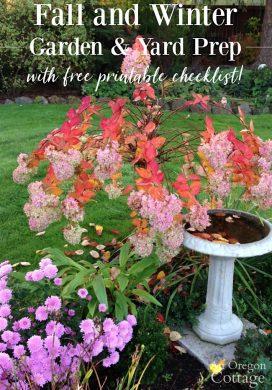 Fall and Winter Garden & Yard Prep + Printable Checklist!