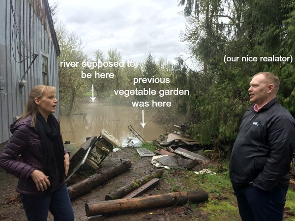 House hunting-flooded bargain property