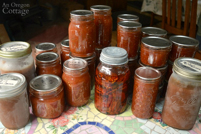 Tomato Recipes-60 pounds canned frozen and dried