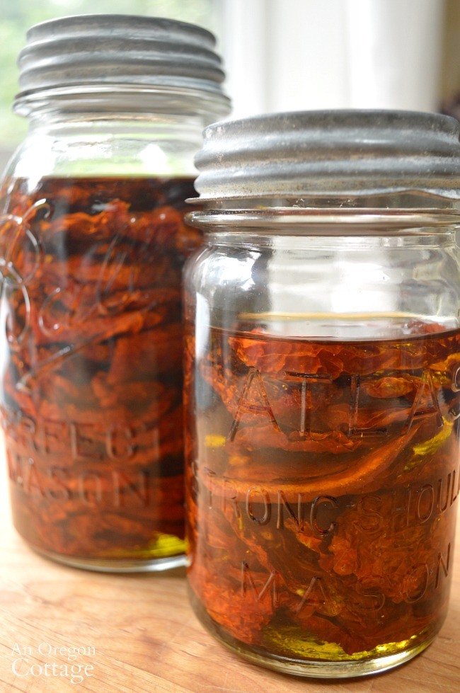 Tomato Recipes-dried tomatoes in olive oil