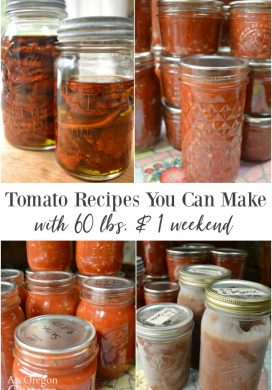Tomato Recipes: 60 Pounds and One 3-Day Weekend