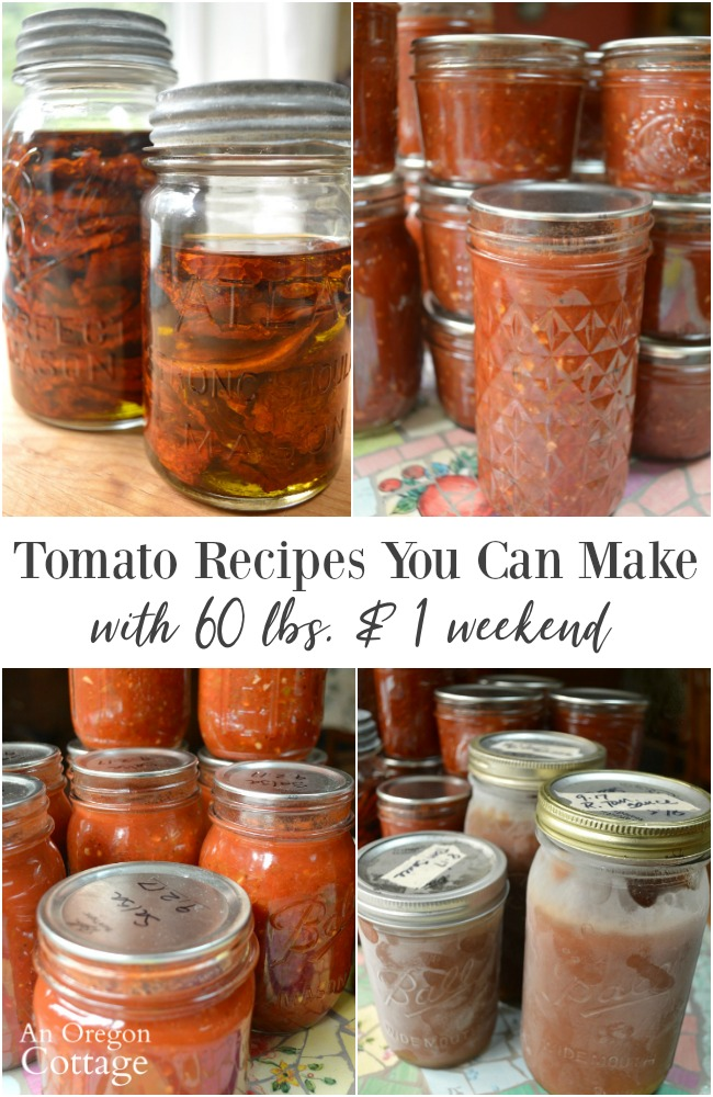 The Tomato recipes made with 60 pounds on a weekend