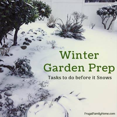 Winter Garden Prep at Frugal Family Home