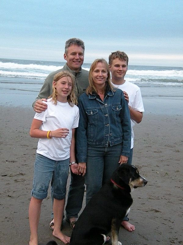 Family at beach 2006