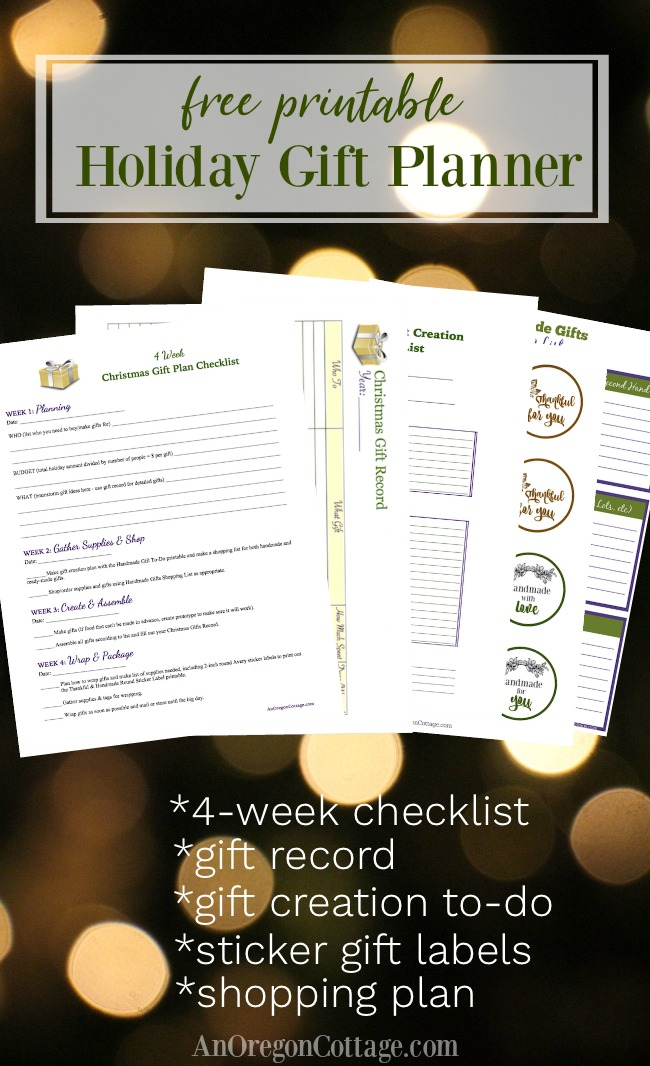 Free printable holiday gift planner with 5 printable pages and user guide to help you find the joy in gift-giving.