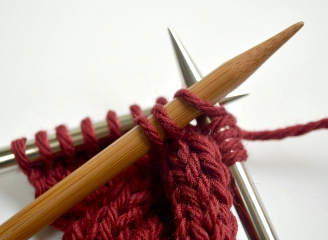 Knitted cable ear warmer headband step4