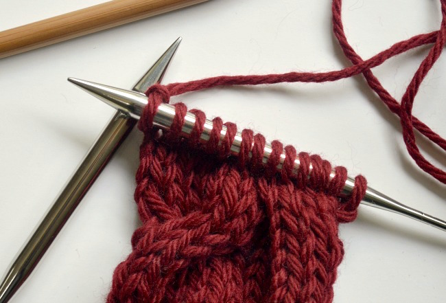 Knitted cable ear warmer headband step5