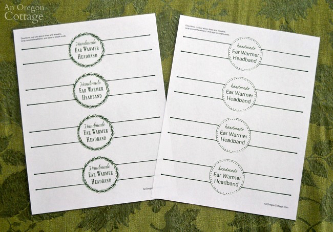 Printable gift label download for handmade headbands
