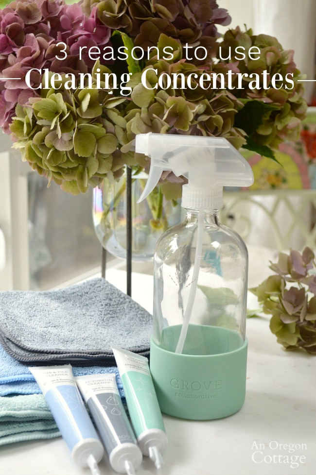 Three reasons to use cleaning concentrates.