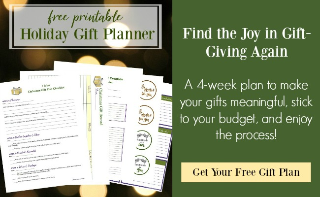 Holiday gift planner-find joy in gift giving