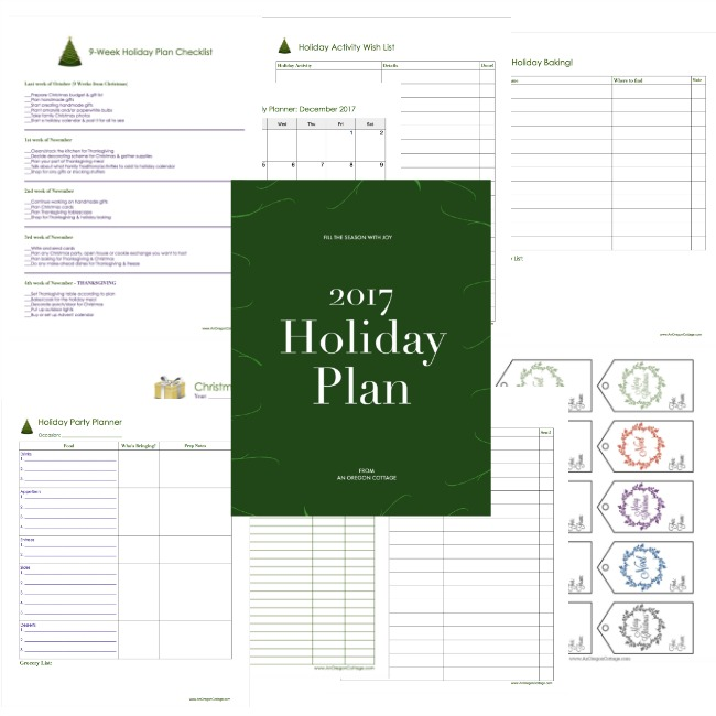 2017 Free Holiday Planner