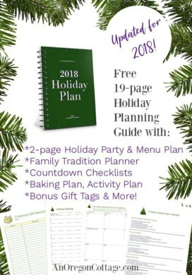 2018 Free Holiday Planner